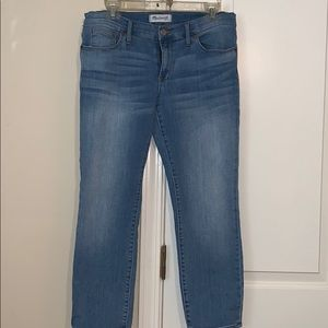 Made well crop skinny leg jeans size 31